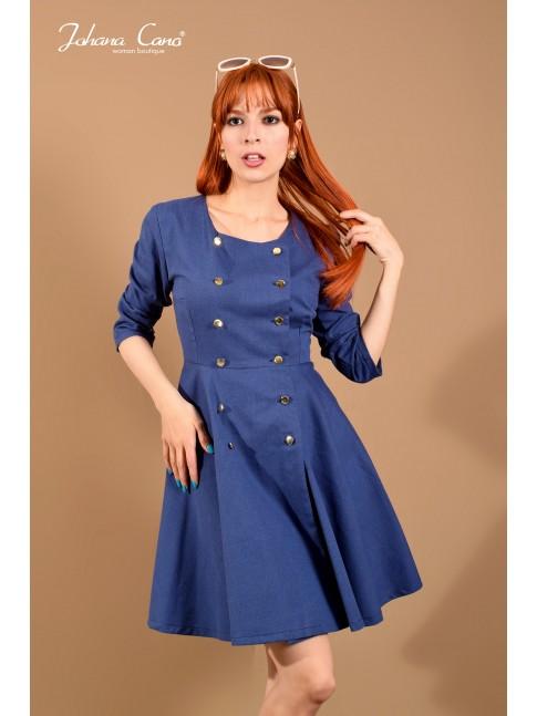 Vestido Marshall Azul Popelina