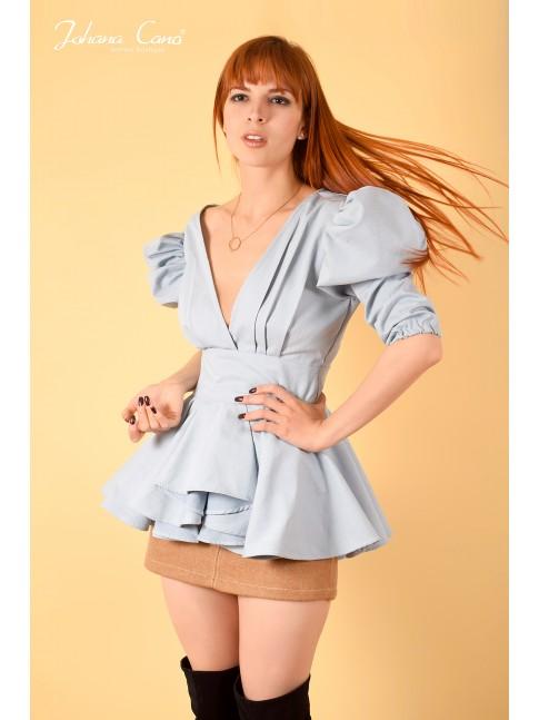 Blusa Soort Azul Celeste