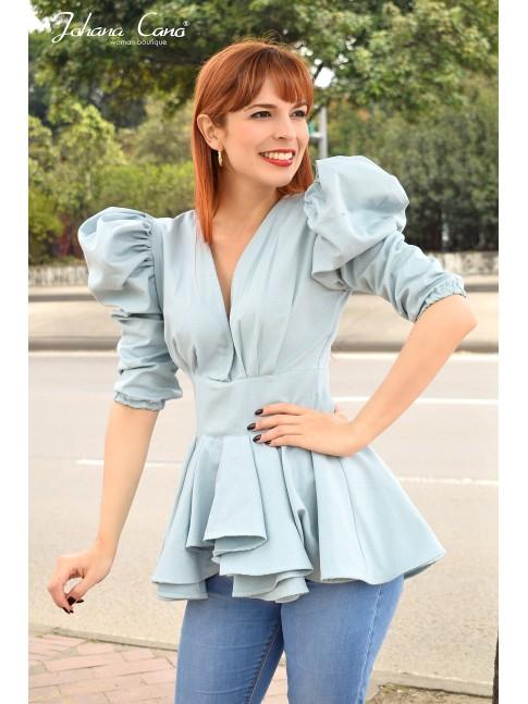 Blusa Soort Azul Zafiro