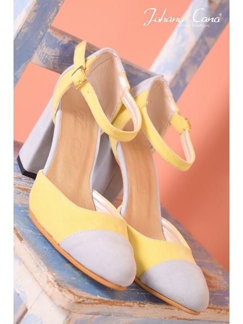 Fiona Bicolor Azul Amarillo