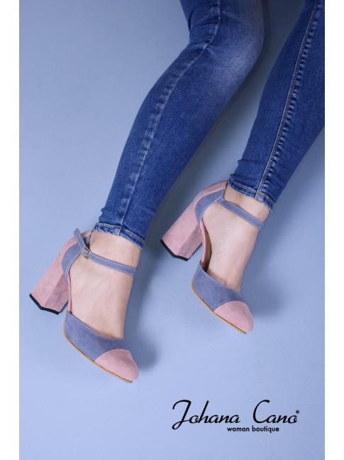 Fiona Bicolor Azul Rosa