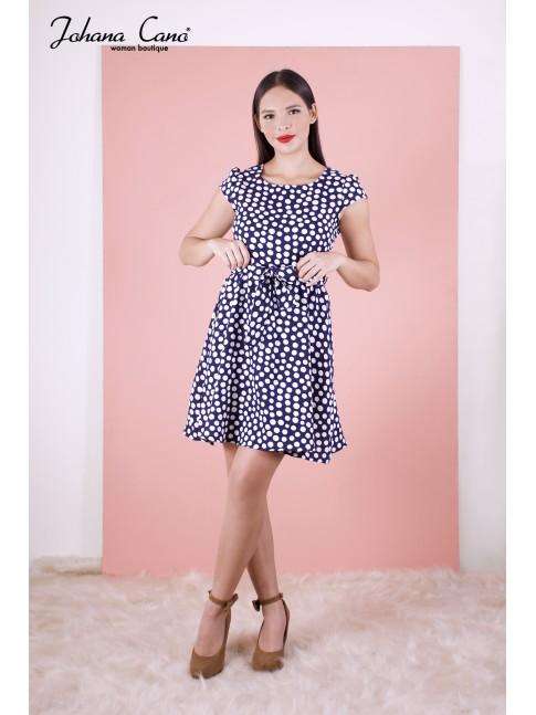 58d34d0ede3 Nueva Vestido Noir Azul Puntos Vestido Noir Azul Puntos