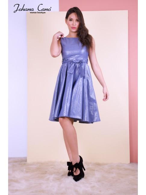 Vestido Foyle Azul Brillante