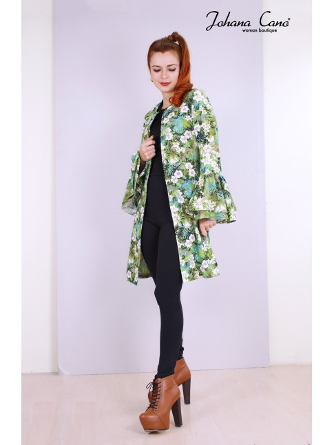 Kimono Lunny Verde Flores