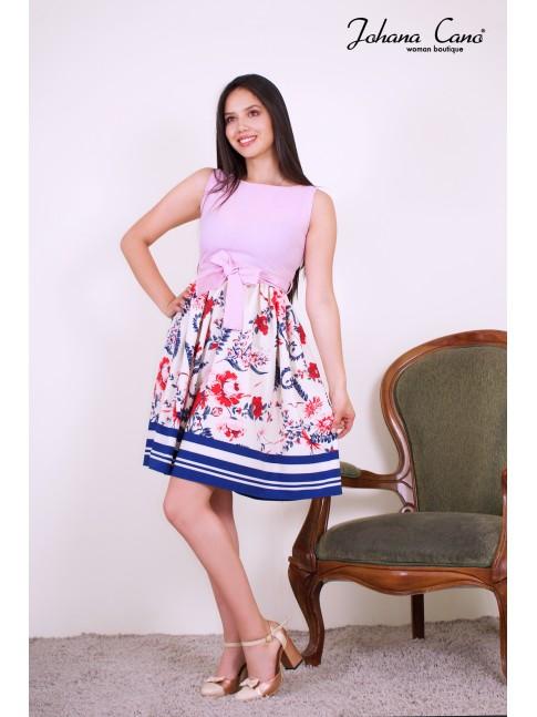 Vestido Siand Rosado Flores