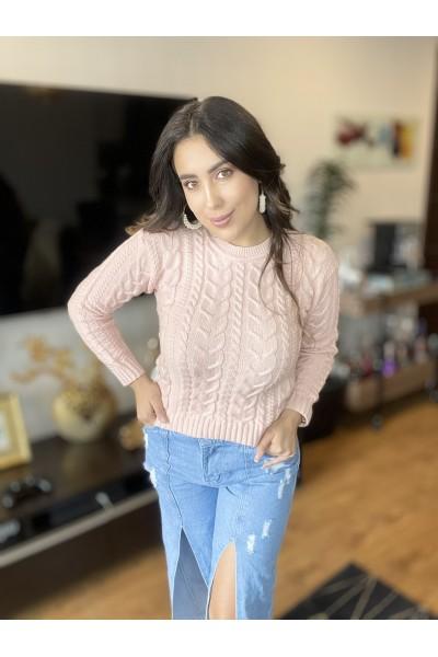 Sweater Louse Tejido Palo De Rosa