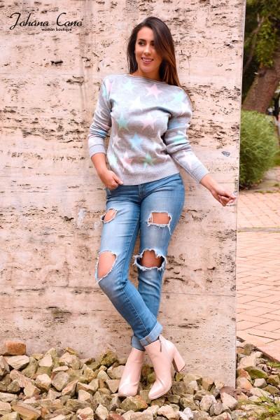 Sweater Estrella Gris